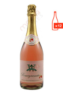Weibel Vineyards Pomegranate Sparkling Wine Case Free Ship