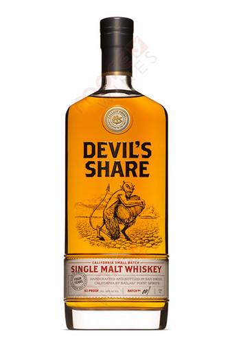 Ballast Point Brewing Company Devil's Share Small Batch Single Malt Whiskey Bottle 750ml