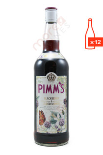 Pimm's Blackberry & Elderflower Liqueur 750ml (Case of 12) FREE SHIP $13.99/Bottle *Closeout*