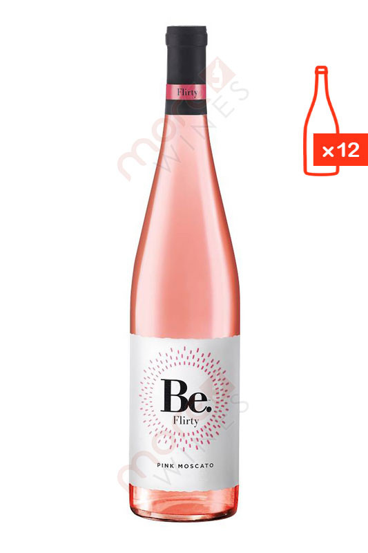 Be. Flirty Pink Moscato 750ml (Case Of 12) FREE SHIP $6.99