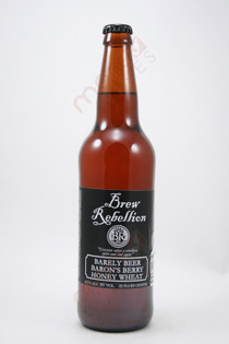 Brew Rebellion Barley Beer Baron's Berry Honey Wheat 22fl oz