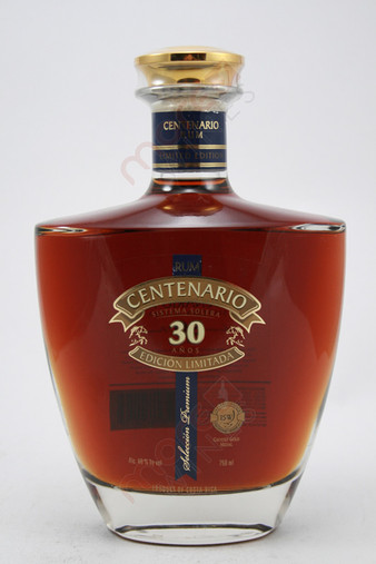 Ron Centenario Edicion Limitada Sistema Solera 30 Year Old Rum 750ml