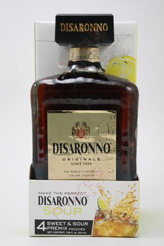 Disaronno Originale Liqueur Gift Set With 4 Sweet & Sour Premix Pouches 750ml