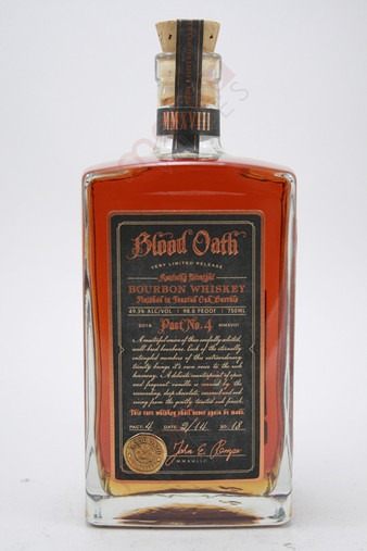 Blood Oath Pact No. 4 Kentucky Straight Bourbon Whiskey 750ml