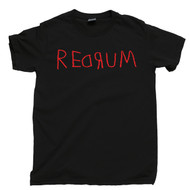 Redrum Black T Shirt Murder Spelled Backward Stanley Kubrick The Shining Black Tee