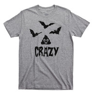 Bat Shit Crazy Sports Gray T Shirt Funny Halloween Sports Gray Tee