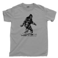 Bigfoot T Shirt Sasquatch Yeti Cryptid Light Gray Tee