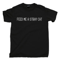 American Psycho T Shirt Feed Me A Stray Cat Patrick Bateman Serial Killer Black Tee
