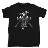 Karate Kid T Shirt Johnny Lawrence Cobra Kai Dojo Skeleton Gang Strike First Hard No Mercy Sweep The Leg Black Tee