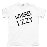 Where's Izzy T Shirt Izzy Stradlin Slash Axl Rose Duff Mckagan Steven Adler GNR Guns N Roses Concert White Tee