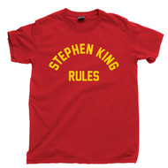 Stephen King Rules T Shirt Author Of Fiction Scary Horror Movies Monster Squad  Red Tee