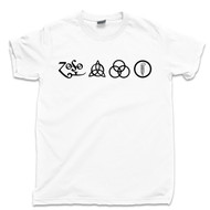 Led Zeppelin T Shirt 4 Symbols Stairway To Heaven White Tee