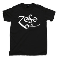 Led Zeppelin T Shirt Jimmy Page Zoso Black Tee