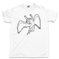 Swan Song T Shirt Led Zeppelin 1977 White Tee
