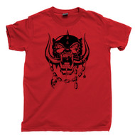Motorhead T Shirt Snaggletooth Warpig Lemmy Kilmister Red Tee
