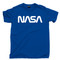 NASA T Shirt Space Exploration Spacecraft Astronaut Royal Blue Tee