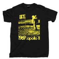 Stanley Kubrick Apollo 11 Conspiracy Theory Black T Shirt Moon Landing Hoax Black Tee