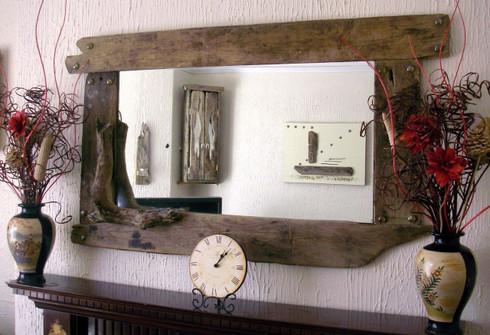 Panoramic Driftwood Mirror Driftwood Interiors