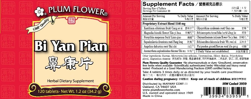 Bi Yan Pian Nasal Pills