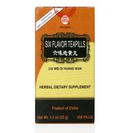 Six Flavor Teapills (Liu Wei Di Huang Wan) - 200 Pills/Bottle - Min Shan Brand