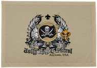 Custom Jolly Roger Patrol Patch Flag with Colored Wings (SP5775)