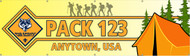 Custom Cub Scout Pack Banner with Tent (SP5986)