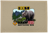 Custom Bear Den Flag - Realistic (SP5925)
