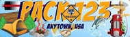Custom Cub Scout Pack Banner with Hiking Gear (SP6119)