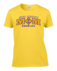 Custom Cub Scout Mom Ladies T-shirt (SP6183)