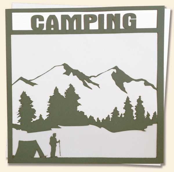 Boy Scout Camping Overlay Scrapbooking Paper