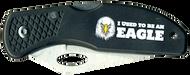 Wood Badge Eagle Critter Head Lockback Knife