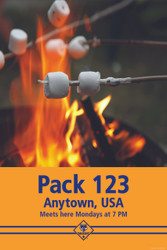 Custom Camp Fire Cub Scout Pack Poster (SP4663)