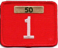 Single Number Pack Unit Numeral With Veterans Bar Patch
