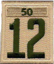 Double Number Boy Scout Troop Unit Numeral With Veterans Bar Patch