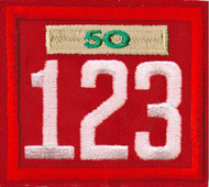 Triple Number Cub Pack Unit Numeral With Veterans Bar Patch
