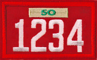 Four Number Cub Pack Unit Numeral With Veterans Bar Patch