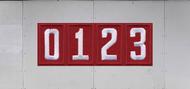 Troop Trailer Graphic Quadruple Pack Unit Numeral (SP6540)