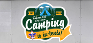 Custom Boy Scout Troop Trailer Graphic Camping Is In-Tents (SP6627)
