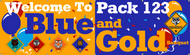 Blue and Gold Banquet Banner with Balloons (SP6766)