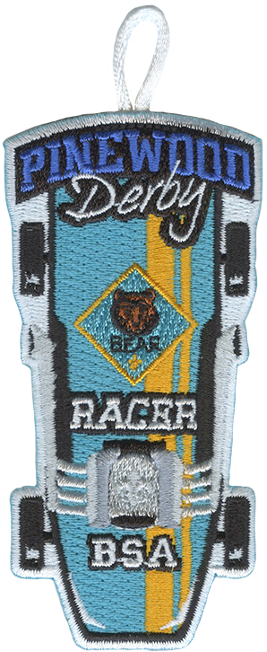 wolf cub scout racer pinewood derby patch