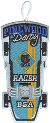 Pinewood Derby Bear Racer Patch