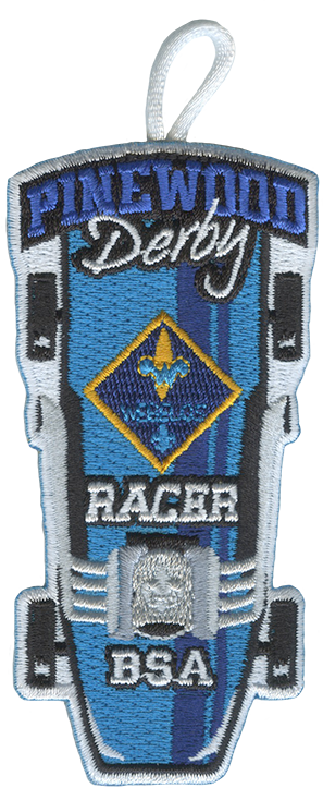 webelos cub scout racer pinewood derby patch