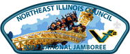 NEIC 2017 Jamboree Council Strip Patch - V2 Roller Coaster