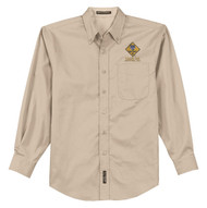 Port Authority® Long Sleeve Easy Care Shirt Men's with  Cub Scout Logo