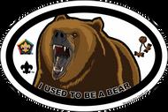 Wood Badge Bear Oval Magnet