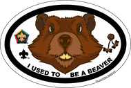 Wood Badge Beaver Critter Oval Magnet