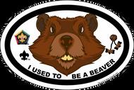 Wood Badge Beaver Critter Oval Magnet