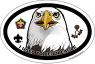 Wood Badge Eagle Oval Magnet