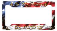 License Plate Frame On My Honor! SP6818