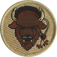 Official Licensed Wood Badge Buffalo with Beads Patrol Patch